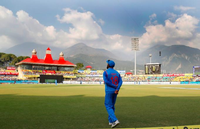 Dharamshala stadium: an architectural wonder at high altitude amid nature!